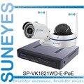 SunEyes SP-VK1821WD-E-POE 1080 P Full HD de $ NUMBER CANALES CCTV Kit NVR Cámara IP con Wifi POE 1 unids HD Bala Cámara IP + 1 unids HD IP de la Bóveda cámara