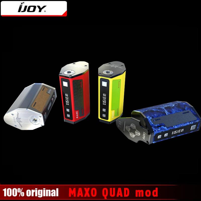 Original IJOY MAXO QUAD 18650 TC Box Mod 315W Vape Firmware Upgradeable Electronic Cigarette Temperature Control Mods