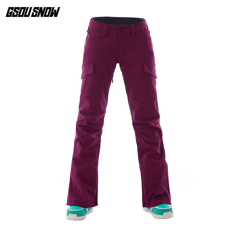 GSOU SNOW Brand Ski Pants Women Snowboard Pants Waterproof Warmth Skiing Trousers Winter Outdoor Sports Snowboarding Clothing inexpensive 4 channel mdvr car vehicle dvr for taxi bus with 4 pcs 5 meters