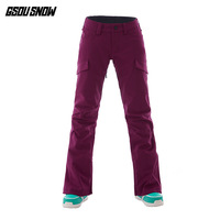 GSOU SNOW Brand Ski Pants Women Snowboard Pants Waterproof Warmth Skiing Trousers Winter Outdoor Sports Snowboarding Clothing