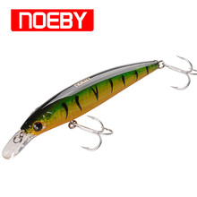 Купить с кэшбэком NOEBY 120mm 25g Sinking Minnow Fishing Lure Wobblers Trolling Lure Swimbait Iscas Artificiail Para Fishing Tackle NBL9006S