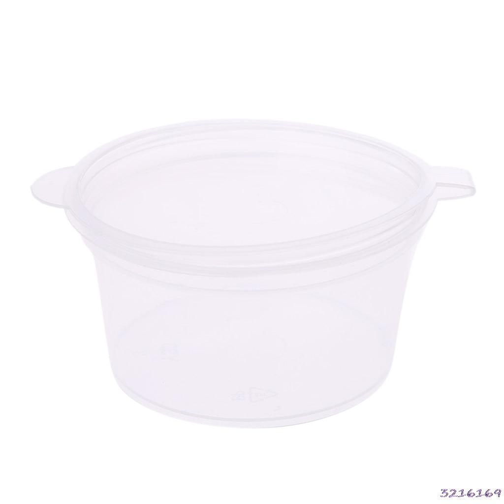 10pcs Disposable Clear Plastic Sauce Chutney Cups Slime