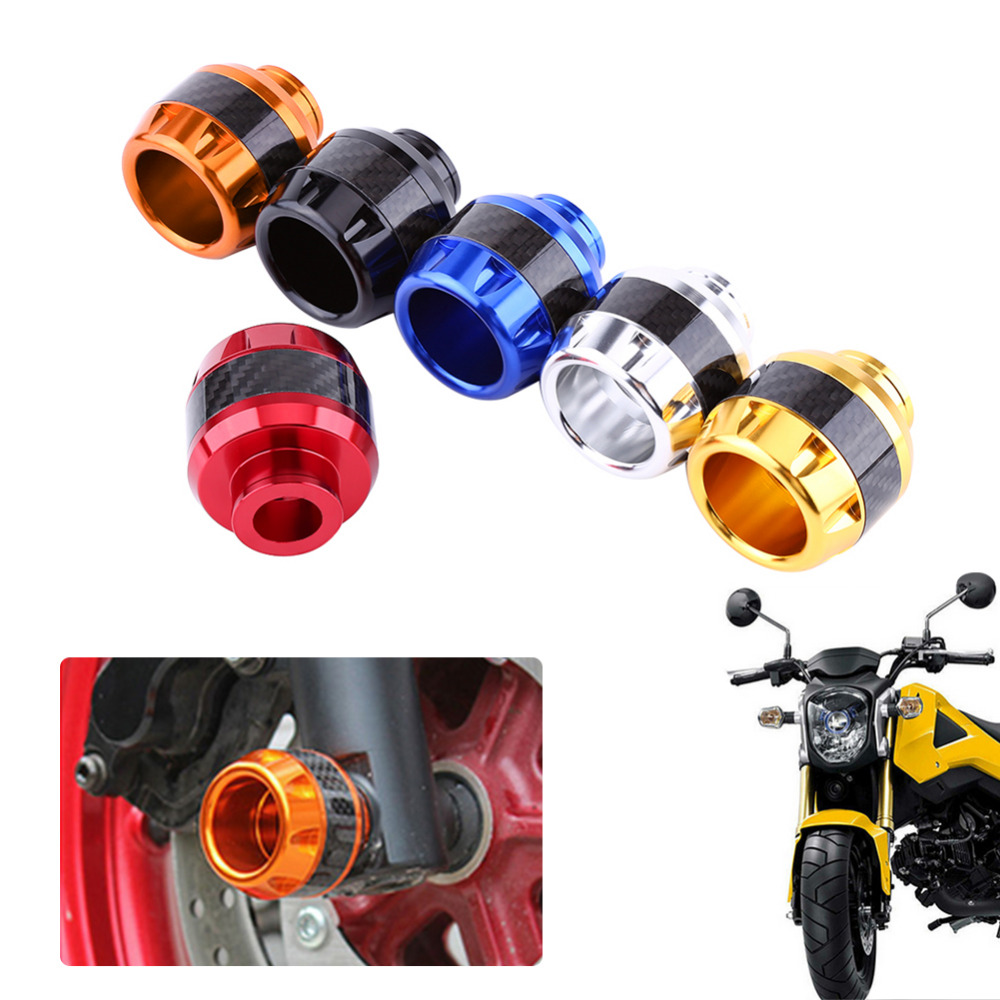 GARNECK 2pcs Fork Frame Sliders Aluminum Front Fork Wheel Crash Protector Cups Falling Protection for Motorcycles Motorbikes Moped Scooters Black
