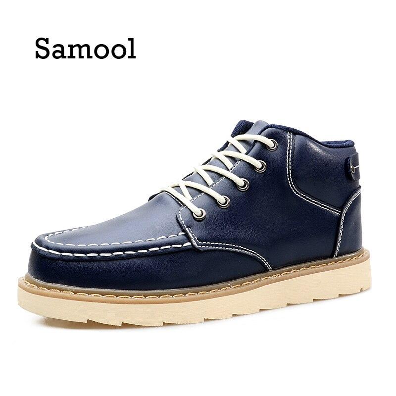 2017 Mannen Causale Schoenen Herfst Winter lederen Enkellaars Schoenen Man Casual Hoge Mannen Footwear Flat Shoes  PX5