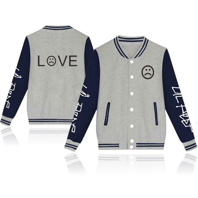 Waidx Lil Peep LOVE Baseball Jackets Men Button Streetwear Hot Students Fans Sweatshirt Pocket Hip Hop Outerwear Drop Shipping