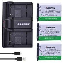 Batmax – 3 Batteries LI-42B 40B 1200mAh LI-42B Li-40B avec double chargeur USB pour OLYMPUS U700 U710 FE230 FE340 FE290 FE360