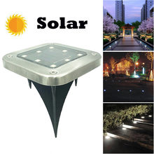 LED Solar Power Buried Light Under Ground Lamp Outdoor Path Way Garden Decking chandelier lighting(China)