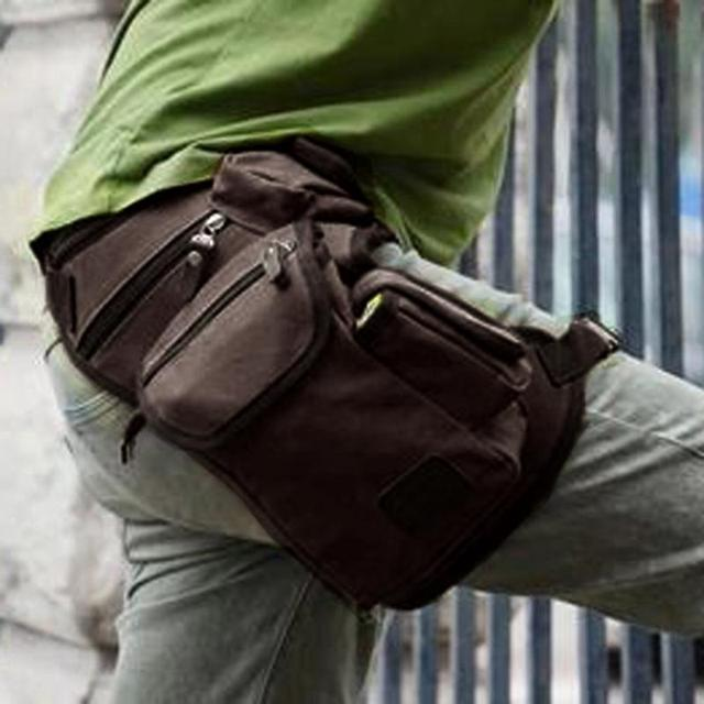 Canvas Drop Leg Bag Waist Fanny Pack