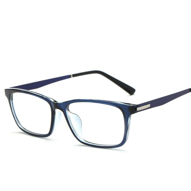Quadro Para Mulheres Dos Homens Óculos de Grau De Vidros Transparentes Quadrados e Full-Rim jy51019