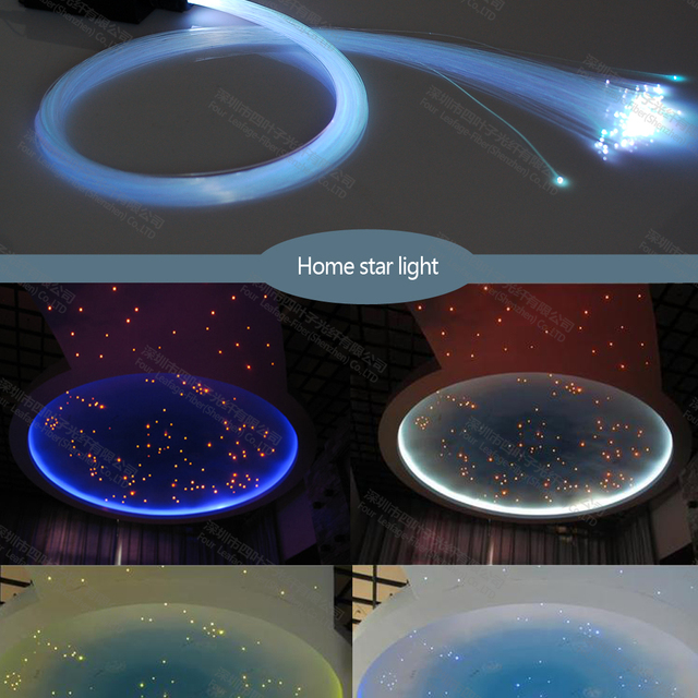 Водонепроницаемый 200 шт. 2 м 0.75 мм волоконно-оптический блеск звезды потолочные комплекты свет