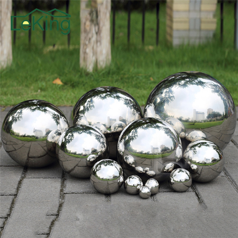 High Gloss Glitter Stainless Steel Ball Sphere Mirror Hollow Ball Home Garden Decoration Supplies Ornament 19mm~120mm