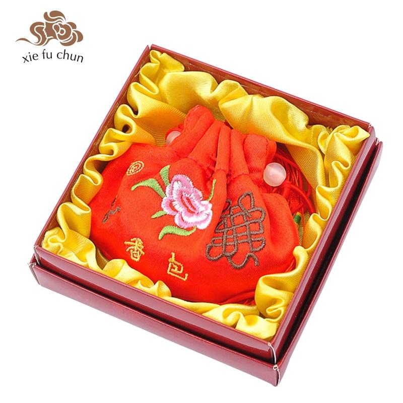 Xiefuchun Chinese Rose Perfume Sachet Rose Scented Sachet Aromatic Fragrance Bag Car Perfume Fragrance Deodorat Sache XFC11-2