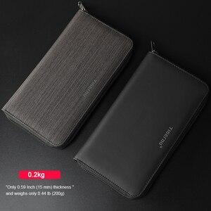 Image 3 - ファッションtigernuブランド紳士財布ロング男性マネー財布防水ドルメンズマネー 6 インチ電話バッグ
