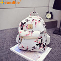 Best Gift Hcandice New Women Backpack Fashion Causal Floral Printing Leather Bag Black drop ship bea668  Drop Shipping Wholesale