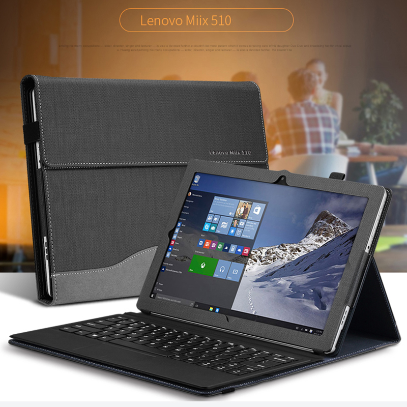 Premium PU Leather Case For Lenovo Miix510 12.2 laptop Stand Cover For Lenovo Miix5 Miix510 12.2inch Tablet Case new tablet laptop cover for lenovo 12 2 miix 510 miix5 miix510 sleeve case pu leather protective skin stylus as gift