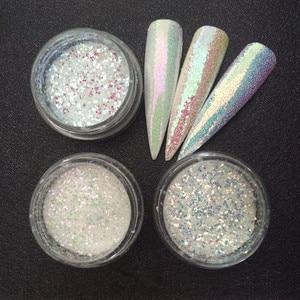 Image 4 - 3 банки/набор, блестки для ногтей
