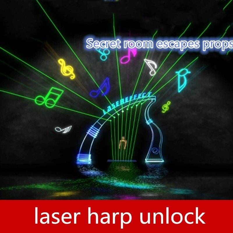 9527 реальные игры escape room реквизит 7 датчиков Лазерная арфа разблокировать орган не содержит лазерный передатчик Fescape room game