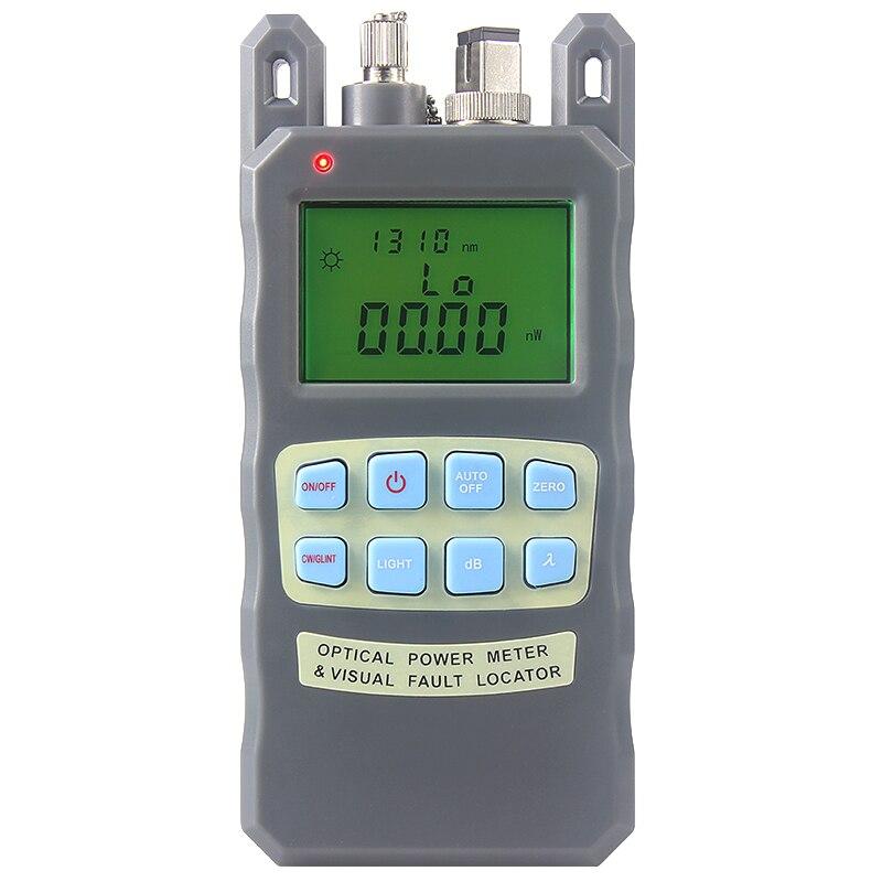 All-IN-ONE Fiber optical power meter-70 a + 10dBm e 10 mw 10 km Cavo In Fibra Ottica Tester Visual Fault Locator
