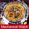 Winner Full Stainless Steel Gold Watch Number Bezel Sport Design Mens Watches Luxury Automatic Mechanical Wristwatches