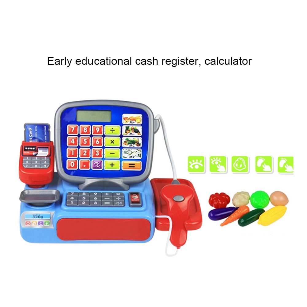 Cash Register with Scanner Weighing Scale Electronic Educational Toy Multi-functional Play Toy For Kid Real Calculator Toys P15 Lahore