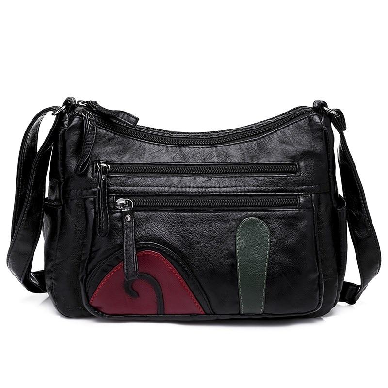 Hobo Washed Soft PU Leather Women Handbags Tassels Zipper Shoulder Bag Female Large Capacity Crossbody Bag Bolsos Mujer