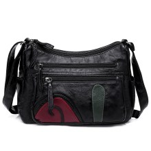 купить Hobo Washed Soft PU Leather Women Handbags Tassels Zipper Shoulder Bag Female Large Capacity Crossbody Bag bolsos mujer дешево