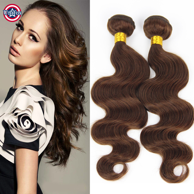 Chocolate Brown Hair Extensions Body Wave 5 Bundles Light Brown