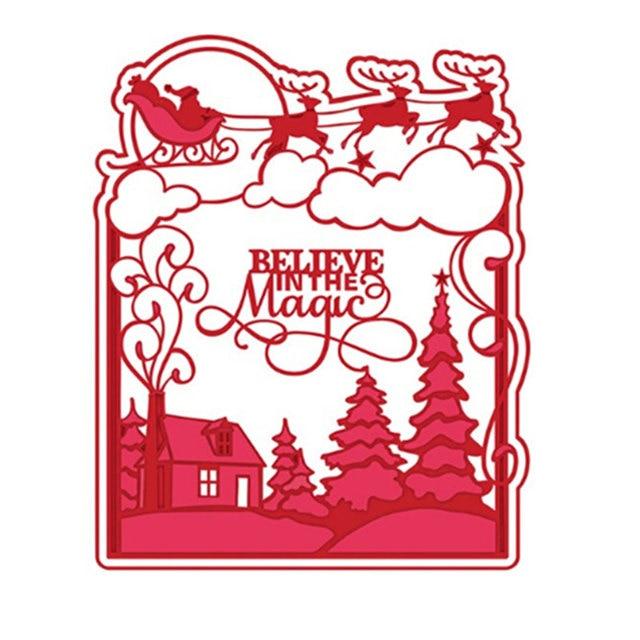 Schablone Frohe Weihnachten.Us 4 61 Aliexpress Com Metall Stahl Frohe Weihnachten Hintergrund Schneiden Stirbt Schablone Für Diy Scrapbooking Album Papier Karte Foto