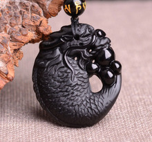 sieraden hanger obsidiaan verzending