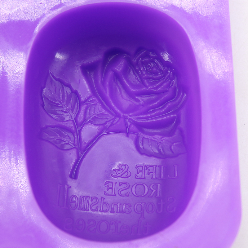 FILBAKE 4 hole oval rose soap mould cake decorating tools moldes de silicona brand new and high quanlity baking accessories in Cake Molds from Home Garden