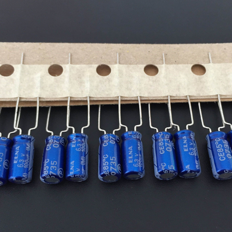 10pcs 100uF 6.3V Japan ELNA RE3 Series 5x11mm 6.3V100uF Audio Capacitor