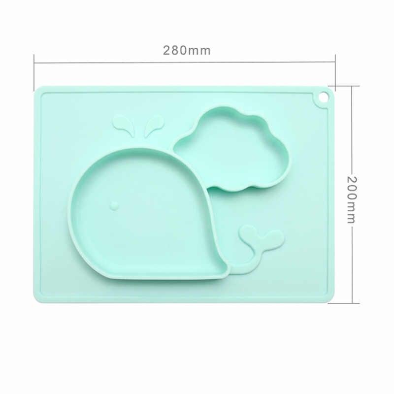Recipiente de alimentação da separação da fibra de bambu dos desenhos animados dos desenhos animados da bandeja da placa de alimentação infantil da bacia dos pratos do bebê 28*20cm bonito