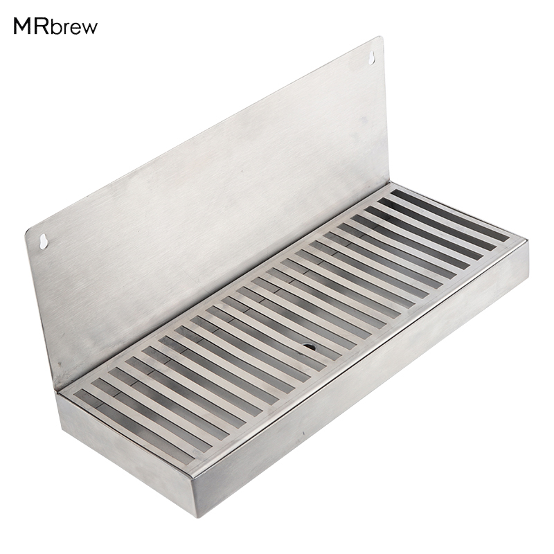 Stainless Steel Drip Tray - 12 x 6 For Faucet Draft Beer wall mount Home brewing Kegging EquipmentStainless Steel Drip Tray - 12 x 6 For Faucet Draft Beer wall mount Home brewing Kegging Equipment