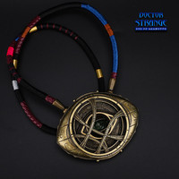 The Avengers 4 Avengers Endgame Dr. Strange Eye Of Agamotto Props Amulet Noctilucent Necklace Pendant 1:1 Model Toy Collectible