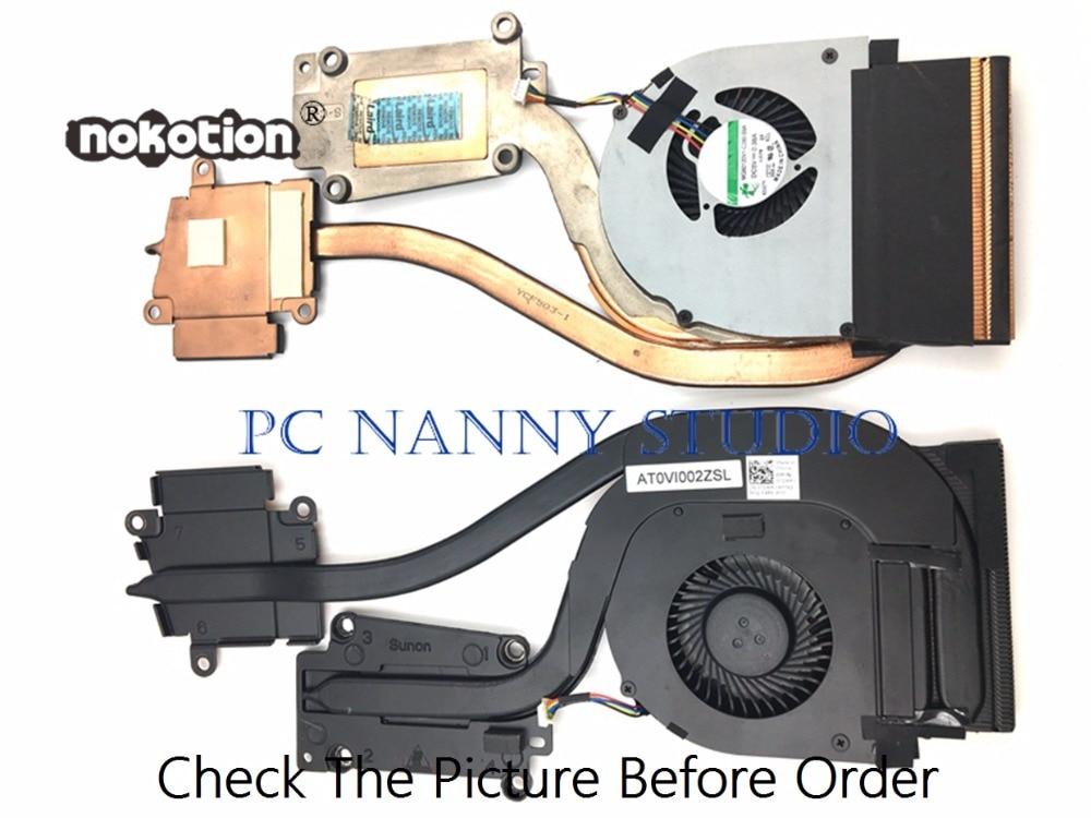 NOKOTION для DelL Latitude E6540 072XRJ AT0VI002ZSL охлаждающий вентилятор и радиатор в сборе радиатор кулер рабочий б/у