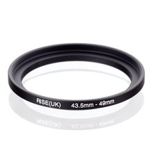 original RISE(UK) 43.5mm-49mm 43.5-49mm 43.5 to 49 Step Up Ring Filter Adapter black