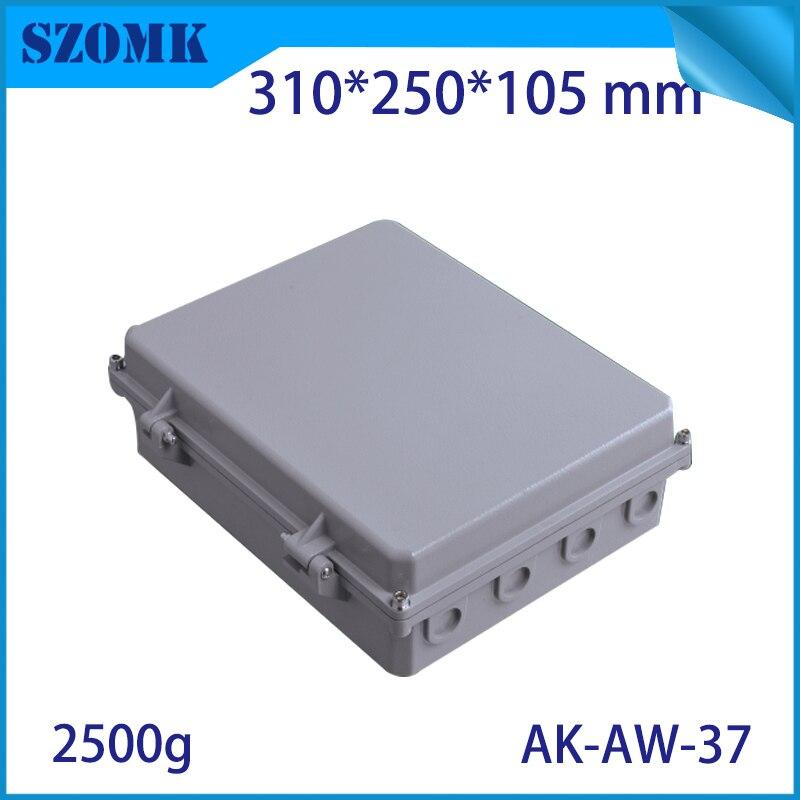 Boîte de jonction étanche en aluminium moulé sous pression pour l'électronique conception de carte PCB bricolage boîtier de projet d'instrument pour une utilisation en plein air