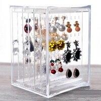 3 layer clear acryl organizer Sieraden opbergrek earring opknoping houder voor Ketting Oorstekers sieraden winkel display rack
