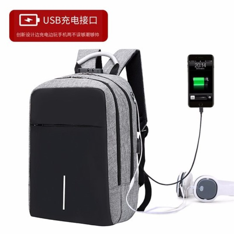 A new business burglar-proof Oxford shoulder backpack outdoor leisure computer backpack for men and womenA new business burglar-proof Oxford shoulder backpack outdoor leisure computer backpack for men and women