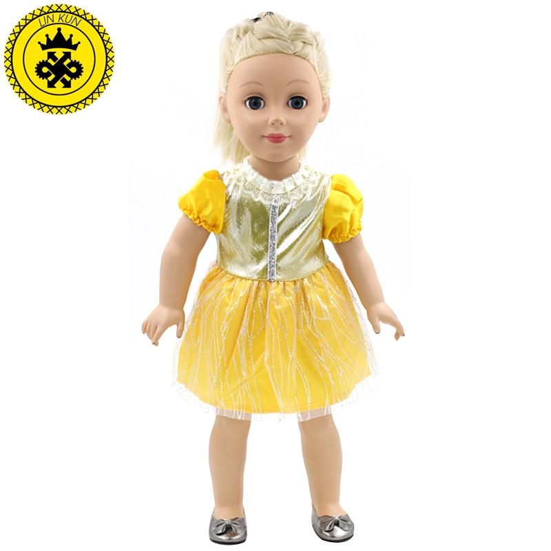 ᑎ‰Aamerican Girl Doll dolls Accesorios vestido amarillo brillante ...