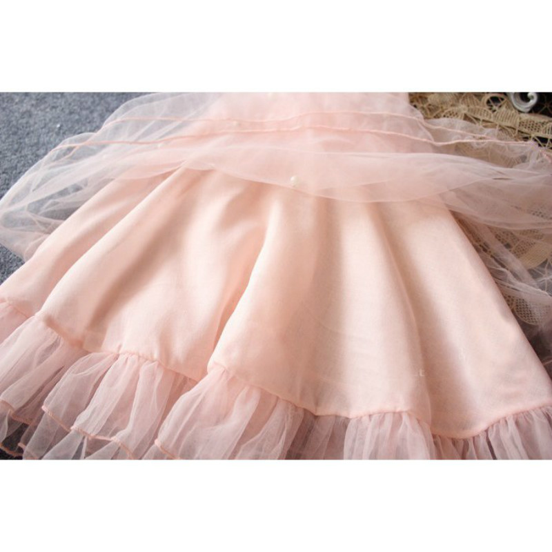 Fashion kids clothes Flower Girl Spring Summer Princess Dress Kid Baby FormalParty Wedding Lace Tulle Tutu Dresses 9