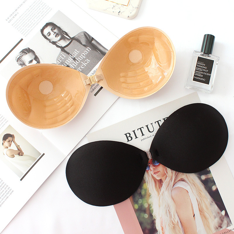 3D palm rest type bra deep V gather silicone nipple breathable comfort seamless underwear wedding dress chest stickers