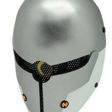 Металлическая Экипировка Сплошная серая лиса Пейнтбол страйкбол проволочная сетка Полная маска для лица bd8862