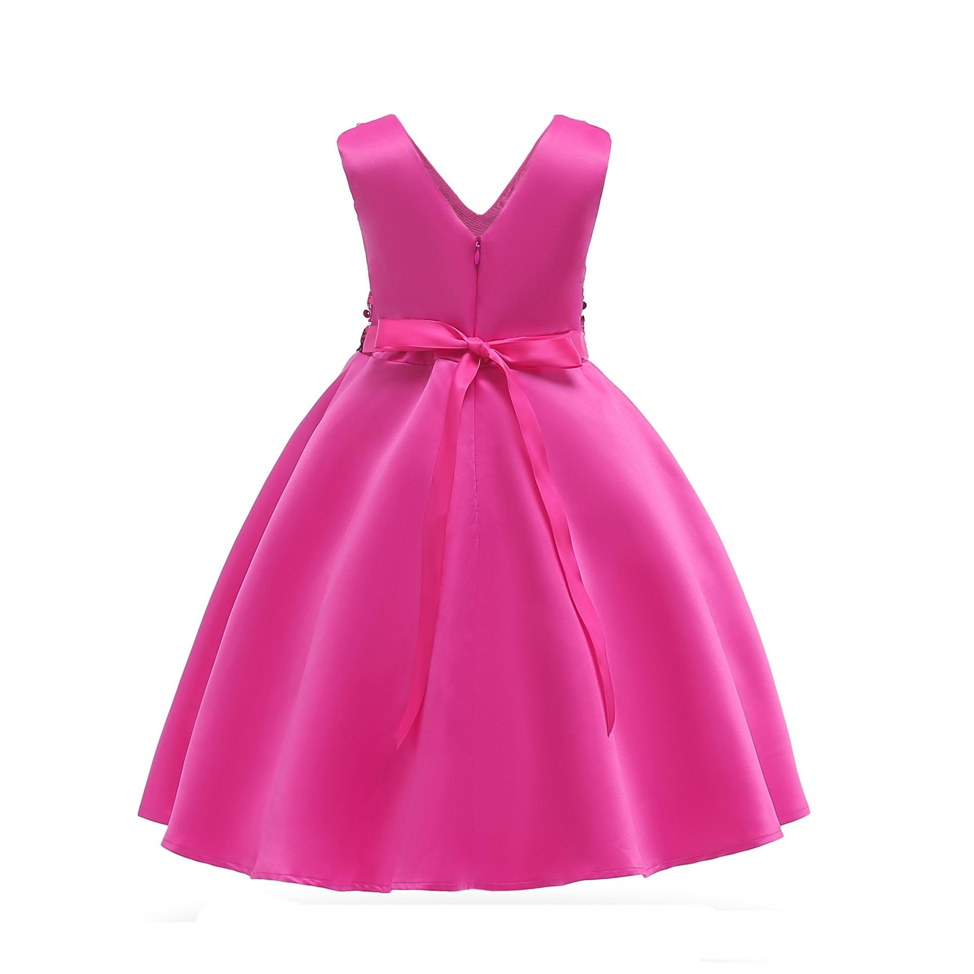 Hibyhoby 2018 nieuwe Boog Baljurk Mouwloze Pailletten jurk Meisjes - Kinderkleding - Foto 5