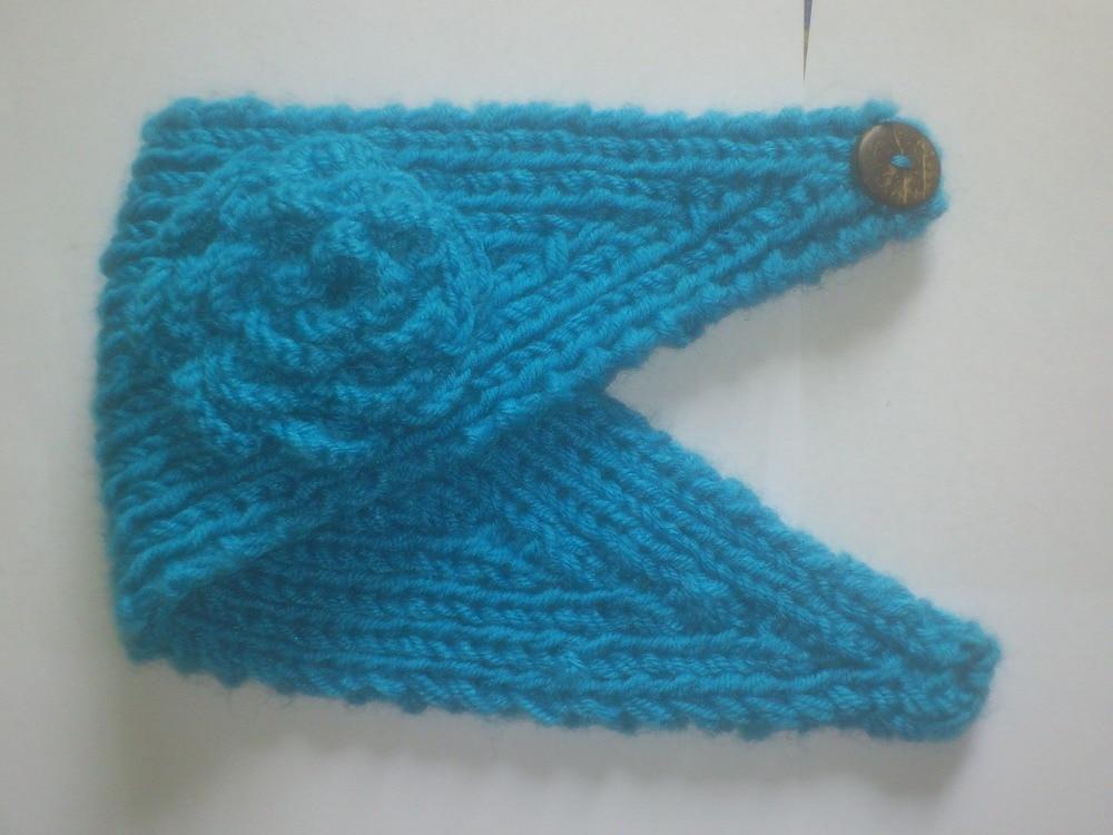 20 Farbe Winter Gestrickte Stirnbänder Mit Blumenmuster Für Frauen ...