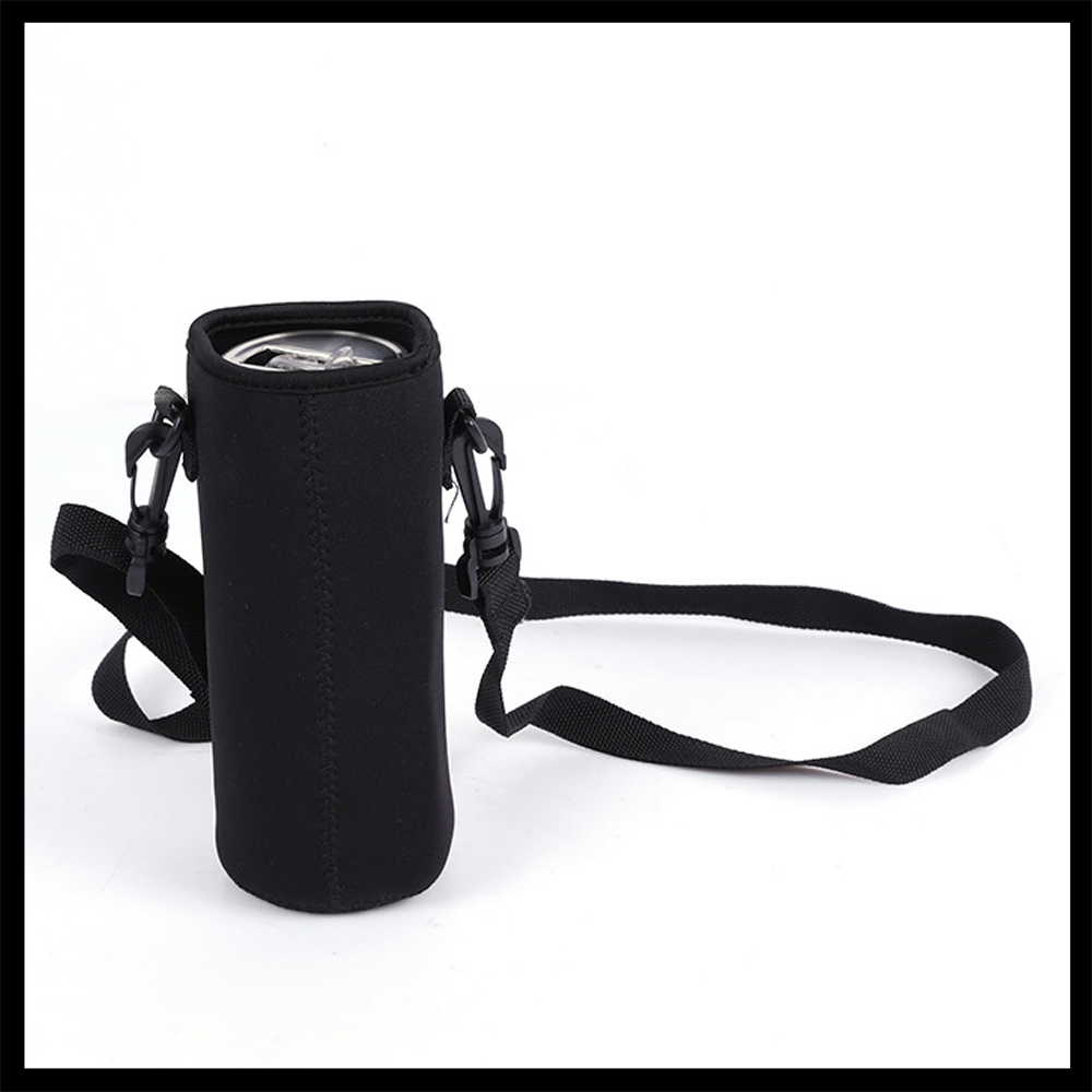 Black 750ML Water Bottle Holder Carrier Insulated Cover Bag Holder Strap Bicycle Accessories