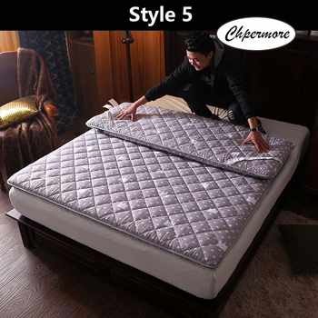 Chpermore thickening Sanding print Mattress Tatami Single double Foldable Mattresses Bedspreads King Queen Twin Size