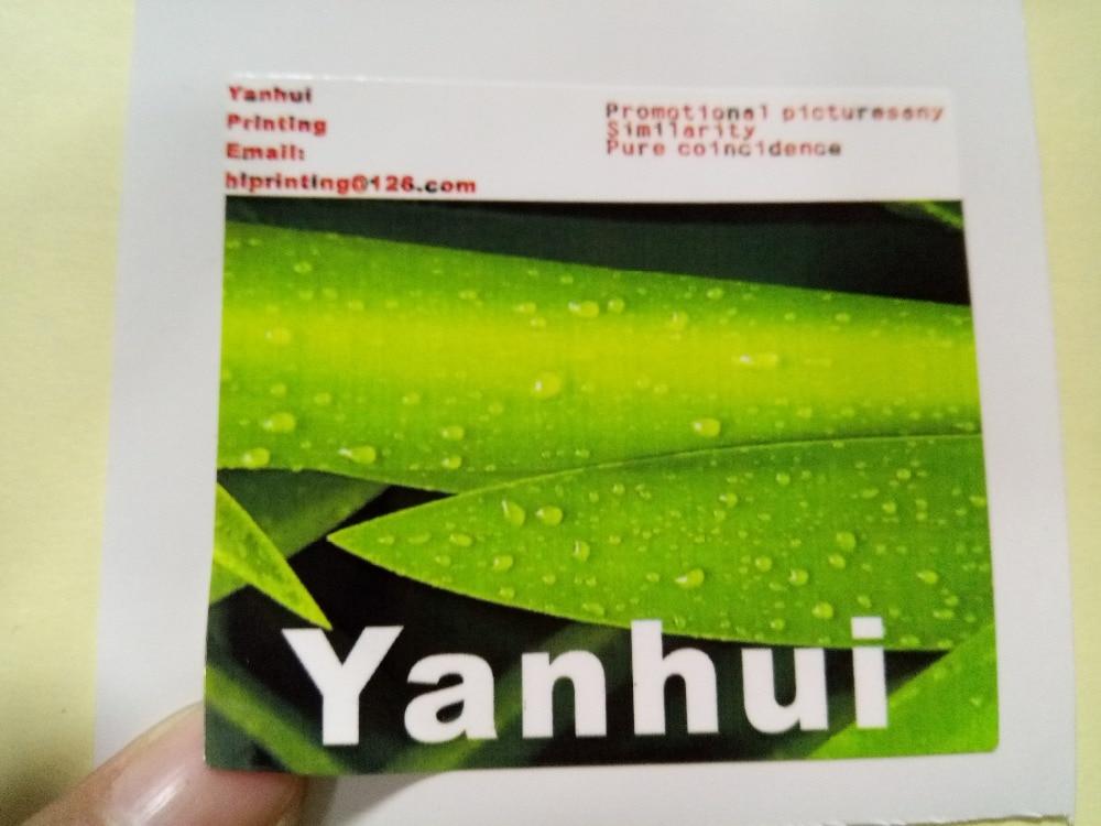 3x3 square vinyl waterproof sticker printing custom white nackground kiss cut