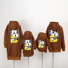 Family look cartoon sweater family matching clothes mother daughter dresses family matching outfits family clothing hoodies