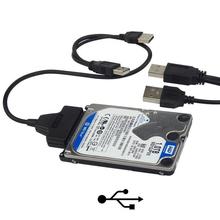 Кабель адаптер USB 2,0 для SATA 22 Pin 7 + 15 Pin для жесткого диска 2,5 дюйма HDD